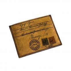 BACH Marrone - Porta Carte di Credito in Vera Pelle Conciata al Vegetale