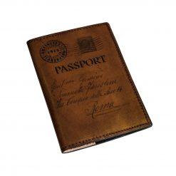GUICCIARDINI Testa di Moro Porta Passaporto in Pelle Conciata al Vegetale