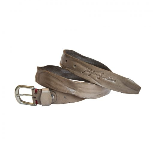 Cintura in Vera Pelle Grigia di Artiglieria Fiorentina