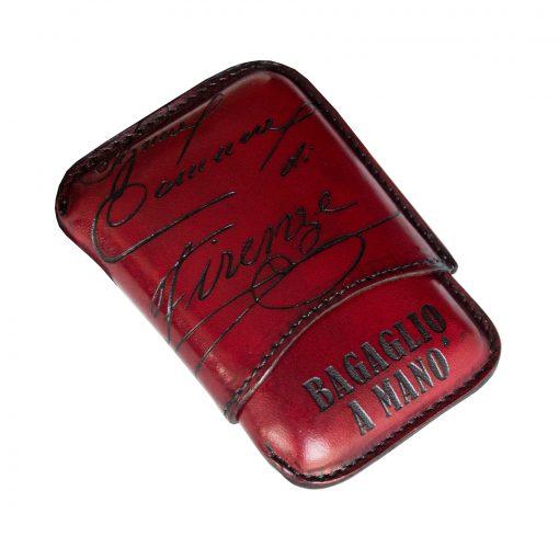porta sigari ammezzati pelle PONTE VECCHIO Rosso