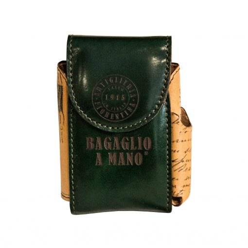 San Frediano_Porta Sigarette Bagaglio a Mano in Pelle Verde